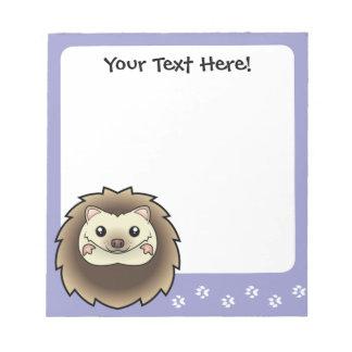Cartoon Pygmy Hedgehog Memo Pad