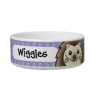 Cartoon Pygmy Hedgehog Cat Water Bowls