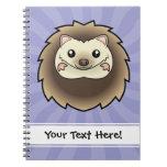 Cartoon Pygmy Hedgehog Spiral Notebook