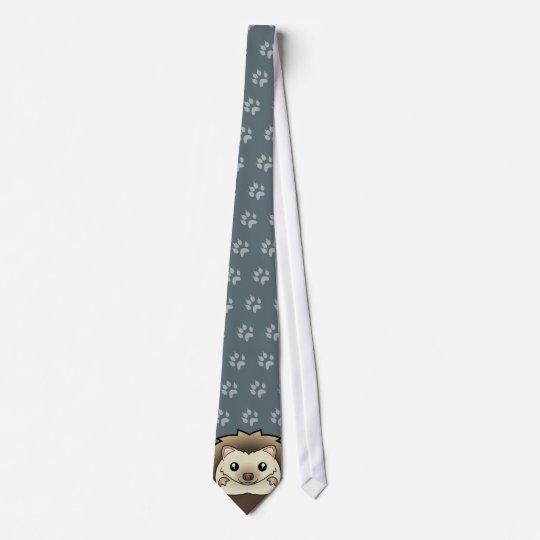 Cartoon Pygmy Hedgehog Tie