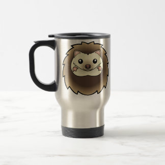 Cartoon Pygmy Hedgehog Travel Mug
