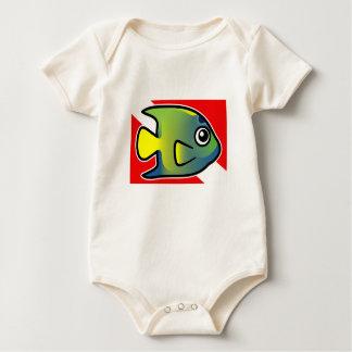 Cartoon Queen Angelfish Dive Flag Baby Bodysuit