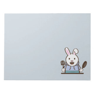 "Cartoon rabbit chef 11"" x 8.5"" Notepad - 40 pages"