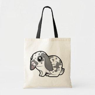 Cartoon Rabbit (floppy ear smooth hair) Budget Tote Bag
