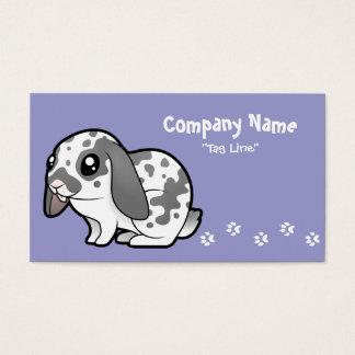Cartoon Rabbit (floppy ear smooth hair) Business Card