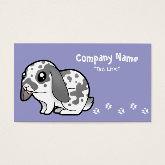 Cartoon Rabbit (floppy ear smooth hair) Business Card