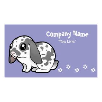 Cartoon Rabbit floppy ear smooth hair Business Card Templates