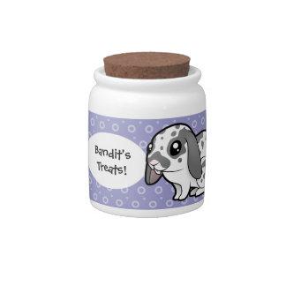 Cartoon Rabbit (floppy ear smooth hair) Candy Jars
