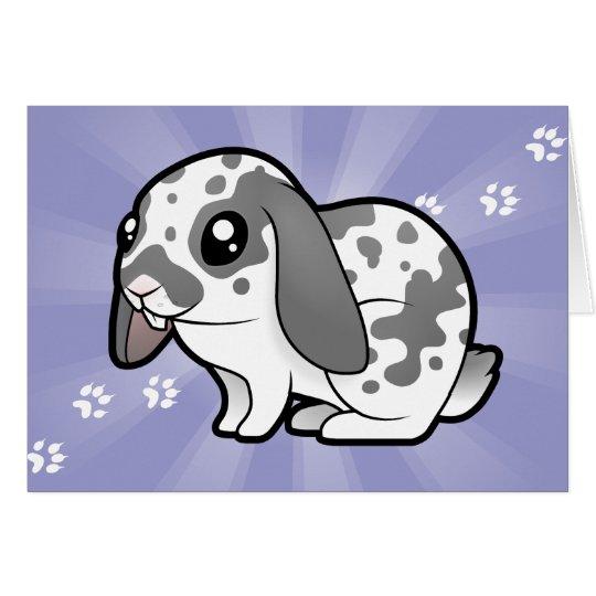 Cartoon Rabbit (floppy ear smooth hair) Card