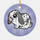Cartoon Rabbit (floppy ear smooth hair) Ceramic Ornament