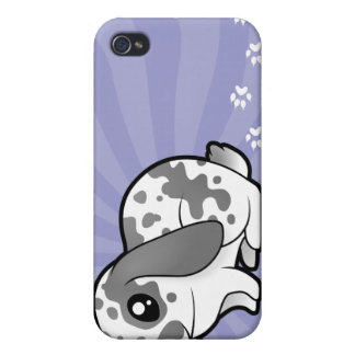 Cartoon Rabbit (floppy ear smooth hair) iPhone 4/4S Cover