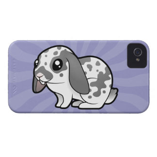 Cartoon Rabbit (floppy ear smooth hair) iPhone 4 Case-Mate Case