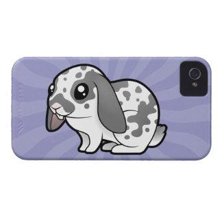 Cartoon Rabbit (floppy ear smooth hair) iPhone 4 Case-Mate Case