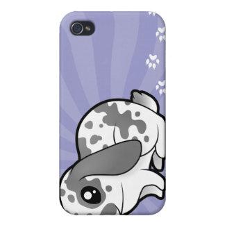 Cartoon Rabbit (floppy ear smooth hair) iPhone 4 Cases