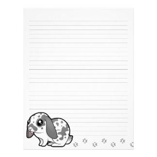 Cartoon Rabbit (floppy ear smooth hair) Letterhead Design