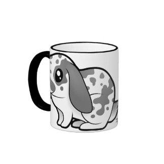 Cartoon Rabbit (floppy ear smooth hair) Ringer Coffee Mug
