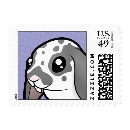 Cartoon Rabbit (floppy ear smooth hair) Postage Stamps