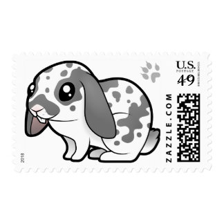 Cartoon Rabbit (floppy ear smooth hair) Postage
