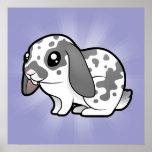 Cartoon Rabbit (floppy ear smooth hair) Print