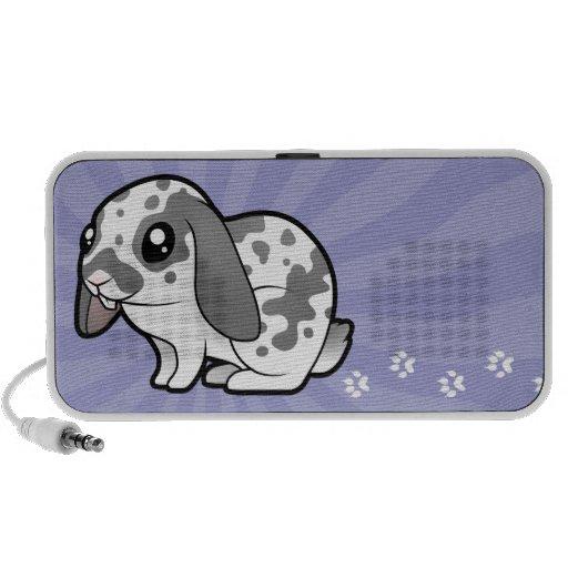 Cartoon Rabbit (floppy ear smooth hair) Travelling Speaker