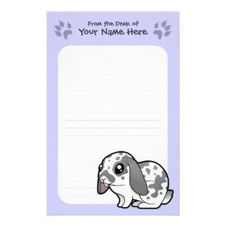 Cartoon Rabbit (floppy ear smooth hair) Stationery Paper
