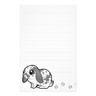 Cartoon Rabbit (floppy ear smooth hair) Customized Stationery