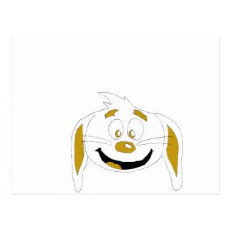 Cartoon Rabbit Hip Hop Fan Postcard