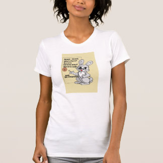Cartoon Rabbit Knock-Knock Joke Shirt