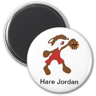 Cartoon Rabbit Michael Jordan Fan 2 Inch Round Magnet