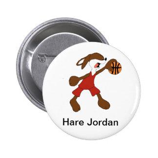 Cartoon Rabbit Michael Jordan Fan Buttons