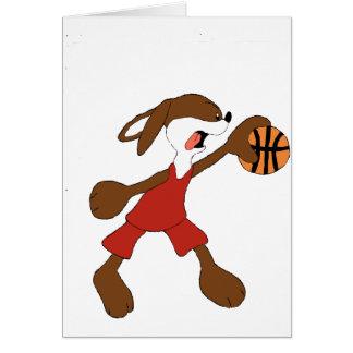 Cartoon Rabbit Michael Jordan Fan Greeting Card