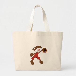 Cartoon Rabbit Michael Jordan Fan Large Tote Bag