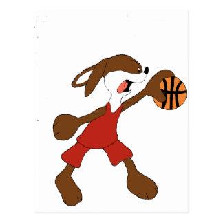 Cartoon Rabbit Michael Jordan Fan Postcard