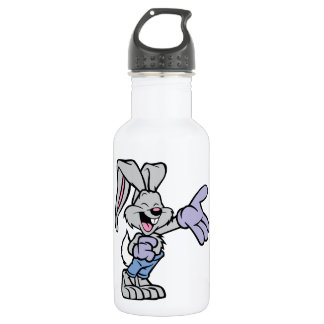 Cartoon Rabbit 18oz Water Bottle