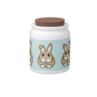 Cartoon Rabbit Storage Jar/Cannister Candy Jar