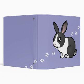 Cartoon Rabbit (uppy ear smooth hair) 3 Ring Binder