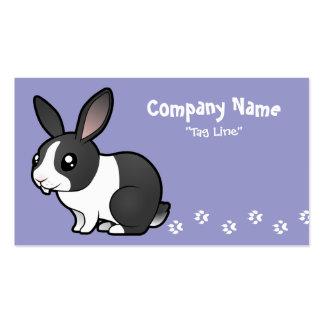 Cartoon Rabbit (uppy ear smooth hair) Business Card