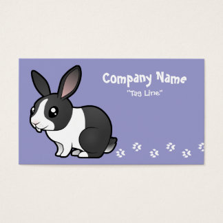 Cartoon Rabbit (uppy ear smooth hair) Business Card