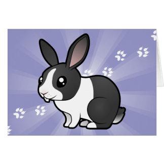 Cartoon Rabbit (uppy ear smooth hair) Cards