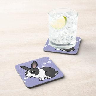 Cartoon Rabbit (uppy ear smooth hair) Coaster