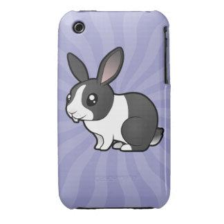 Cartoon Rabbit (uppy ear smooth hair) iPhone 3 Covers