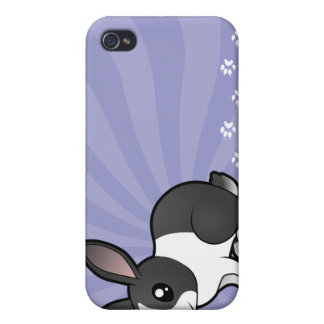 Cartoon Rabbit (uppy ear smooth hair) iPhone 4/4S Case