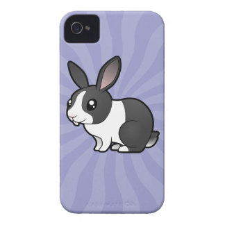Cartoon Rabbit (uppy ear smooth hair) iPhone 4 Case-Mate Case
