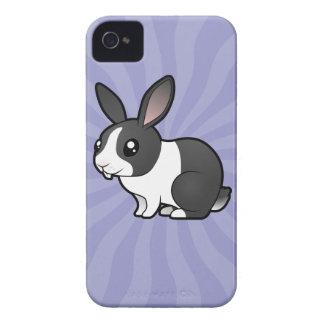 Cartoon Rabbit (uppy ear smooth hair) iPhone 4 Cases