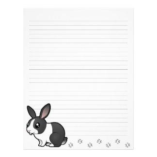 Cartoon Rabbit (uppy ear smooth hair) Letterhead Template