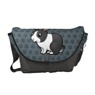 Cartoon Rabbit (uppy ear smooth hair) Messenger Bag