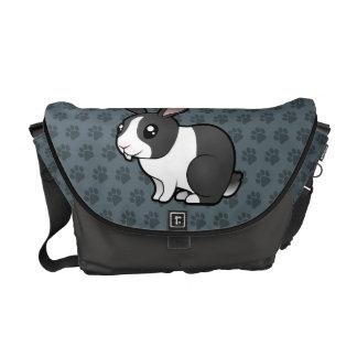 Cartoon Rabbit (uppy ear smooth hair) Messenger Bags