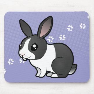 Cartoon Rabbit (uppy ear smooth hair) Mouse Pad