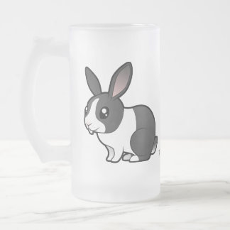 Cartoon Rabbit (uppy ear smooth hair) 16 Oz Frosted Glass Beer Mug