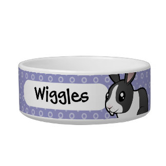 Cartoon Rabbit (uppy ear smooth hair) Pet Food Bowls
